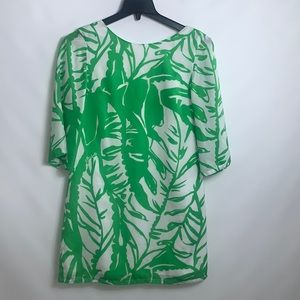 Lilly Pulitzer Target Dress White Green Palms